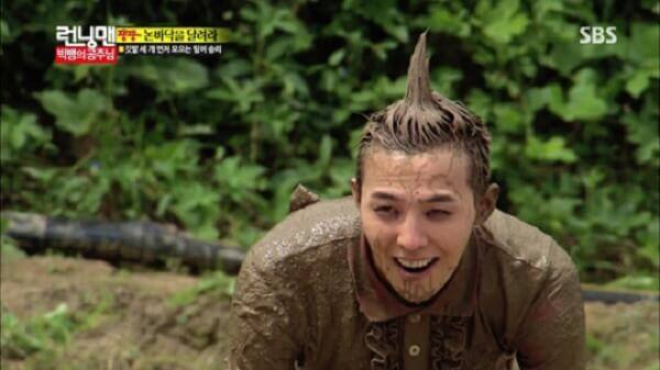 G-Dragon lăn xả với bùn để lấy lòng công chúa Song Ji Hyo - Danh sách khách mời Running man 2017 2018 mới nhất