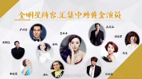 Dàn diễn viên tên tuổi hàng đầu Trung Quốc trong phim Thắng Thiên Hạ