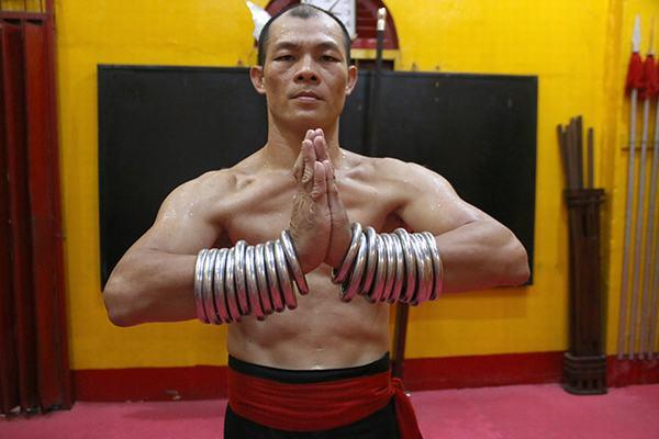 Võ sư Nguyễn Trọng Nghĩa có 15 năm tập võ và 10 năm luyện Đại Bộ Công