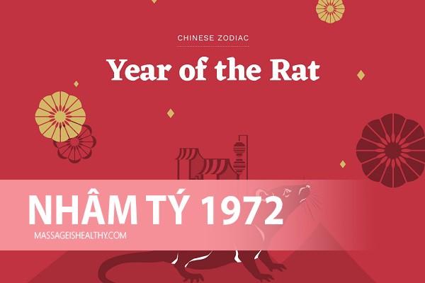 [Nhâm Tý 1972] Sinh năm 1972 mệnh gì tuổi con gì hợp hướng nào, sinh năm 72 hợp tuổi nào bao nhiêu tuổi?