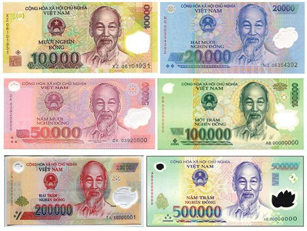 Các mệnh giá Tiền đang lưu hành tại Việt Nam