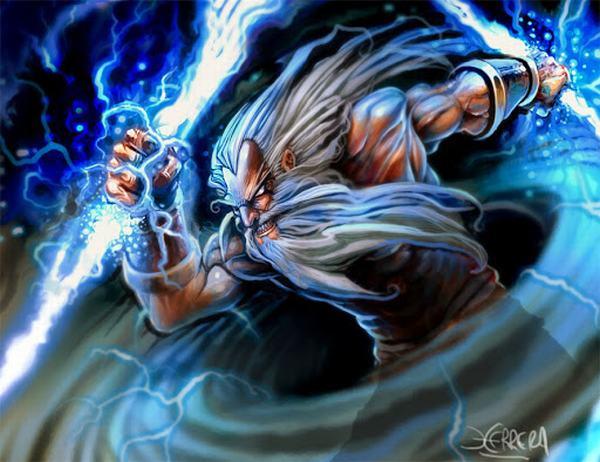 Zeus được coi tương đương như thần Jupiter trong thần thoại La Mã, một trong những vị thần tối cao.