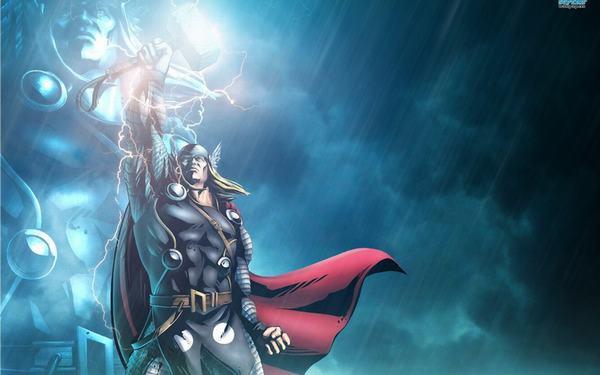 Thor là một vị thần dùng búa Aesir kết hợp với tia chớp, sấm sét