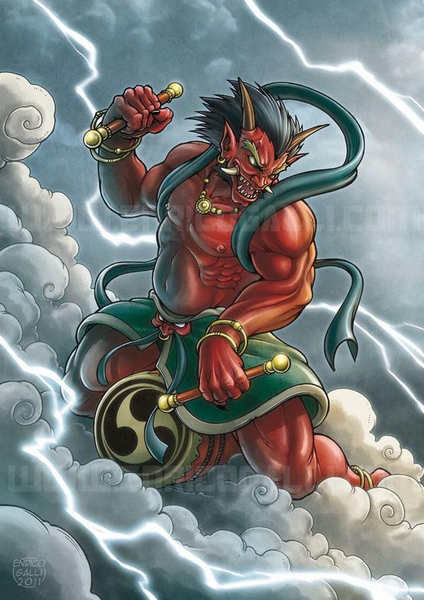 Raijin là vị thần sấm chớp trong tín ngưỡng dân gian và Thần đạo Nhật Bản