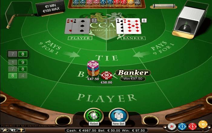 Bàn chơi game Baccarat online